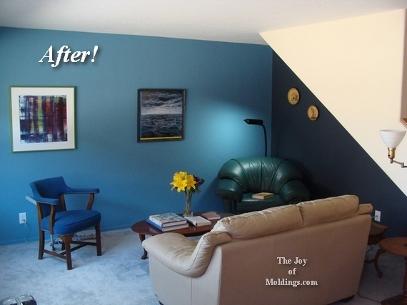 how to paint a living room blue. Living Room  The Answer is  Sea Serpent    The Joy of Moldings com