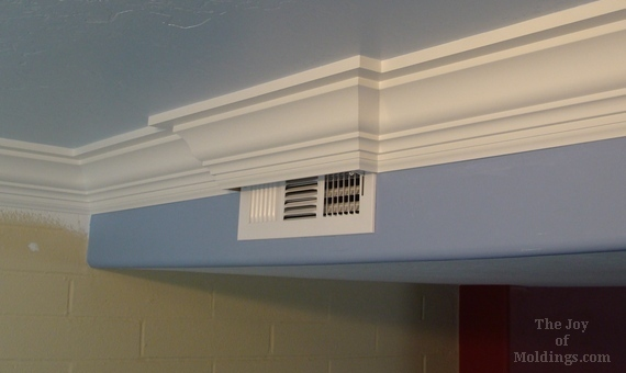 crown moulding buildup around air vent