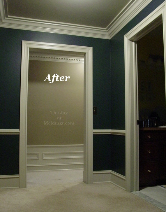 Decorating a hall with moldings
