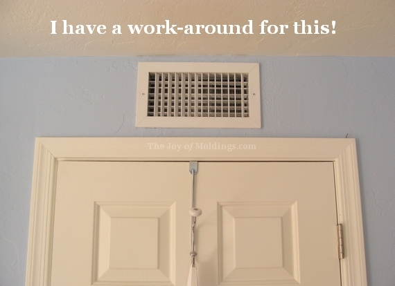 An air vent to wrap the crown molding around. Kitchen Crown Molding Design  Finding the Limiting Factors   The
