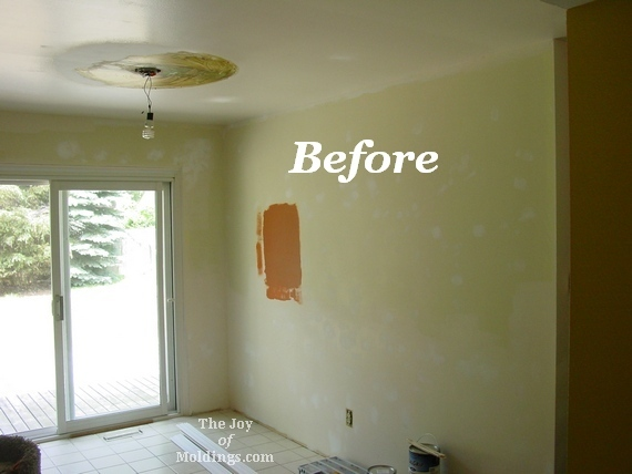 Before After Craftsman Style Kitchen Moldings On A Budget The