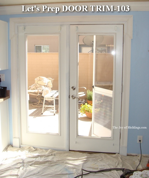 How to paint moldings the joy of Plastic molding for exterior doors