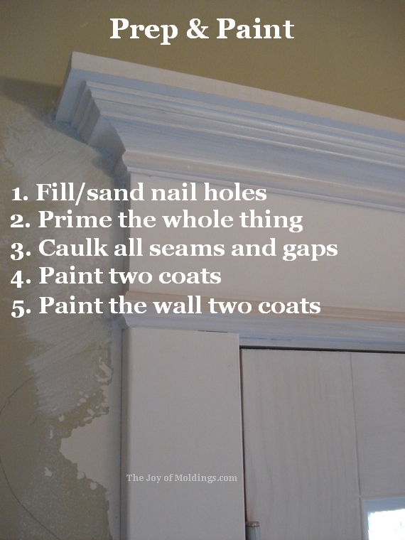 how to paint victorian door trim moldling