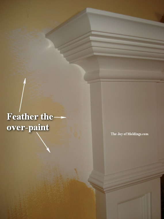 white painted moldings