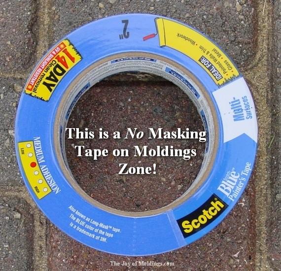 blue masking tape for painting moldings