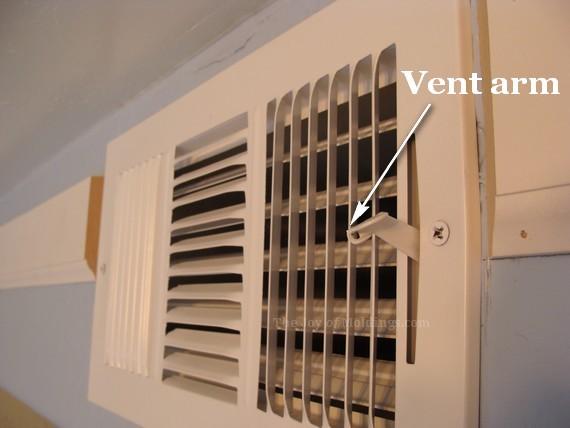 crown molding around air vent