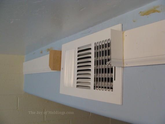 Kitchen Crown Molding Lower Detail Buildup Around Air Vent