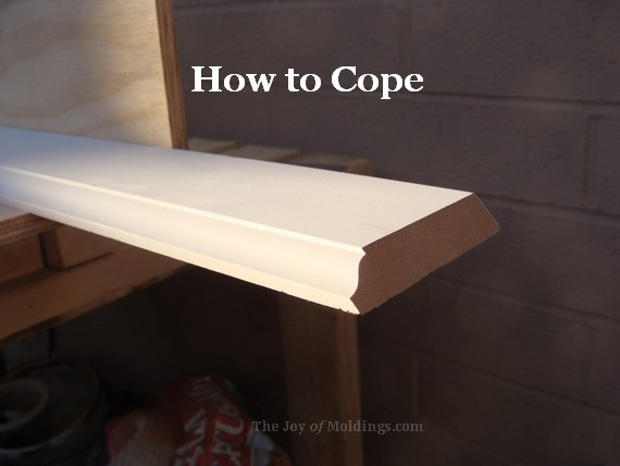 how to cope crown molding buildup