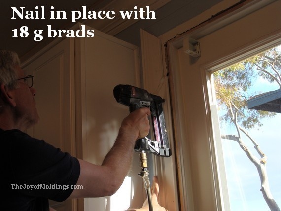 nailing mdf door trim molding to outside door