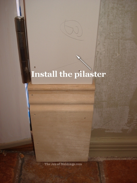plinth block and pilaster for victorian and craftsman door trim