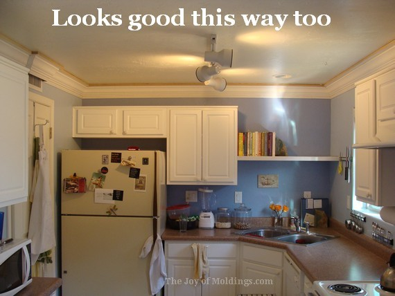 Diy Kitchen Three Piece Crown Molding Buildup