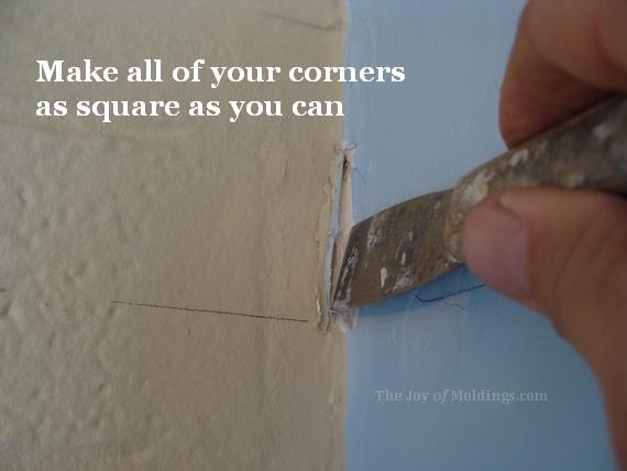 crown molding wall preperation