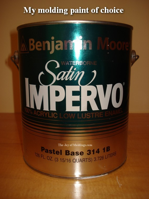 How To Paint Mdf Moldings Benjamin Moore Trim Paint