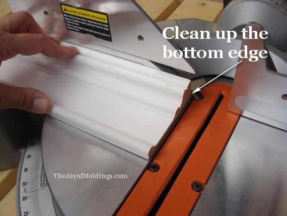 mdf door trim on miter saw