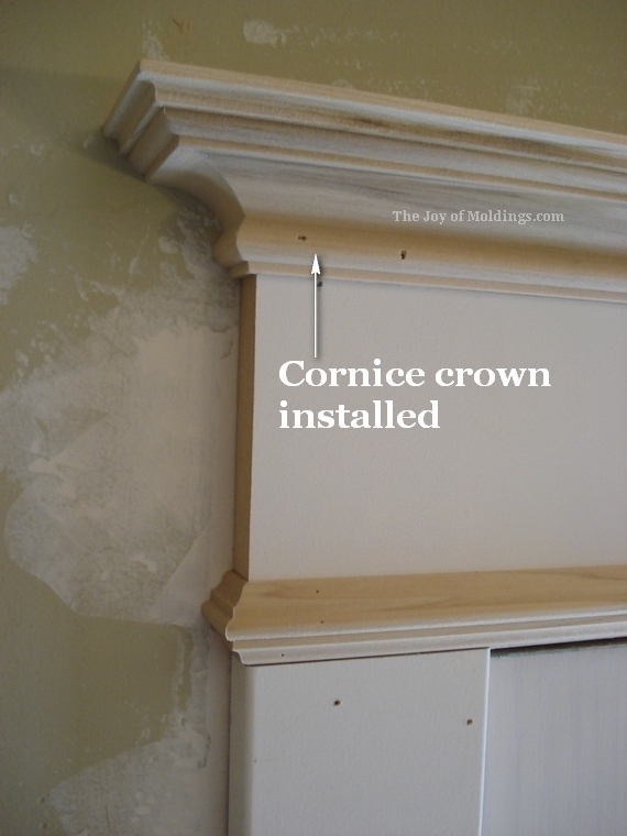 Attractive Cornice Crown Molding On Door Trim