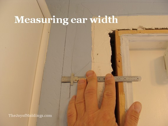 measure width of ears on architrave