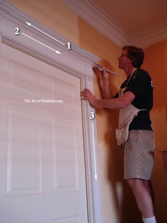 how to paint a door surround