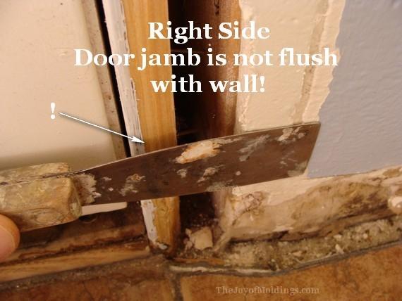 door trim not flush with wall