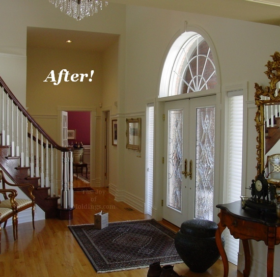 Open To Foyer : Before after turn your foyer into a gallery with