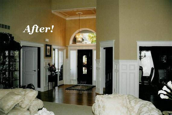 Open Foyer Floor Plan : After front door foyer moldings the joy of