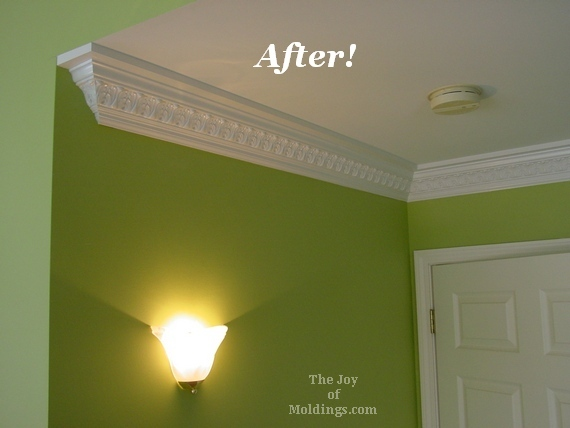 After Ornate Crown Molding In Master Bedroom