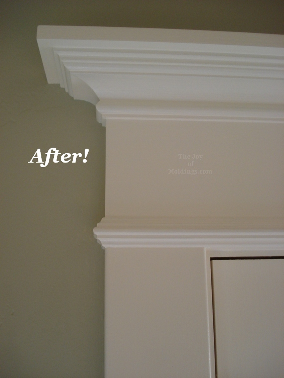 patio french door trim molding made from mdf & Before \u0026 After: Moldings for Patio Double Doors - The Joy of ... Pezcame.Com
