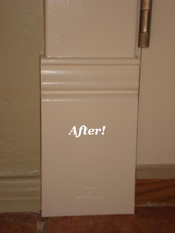 After Patio Double Door Trim Plinth Installation The Joy