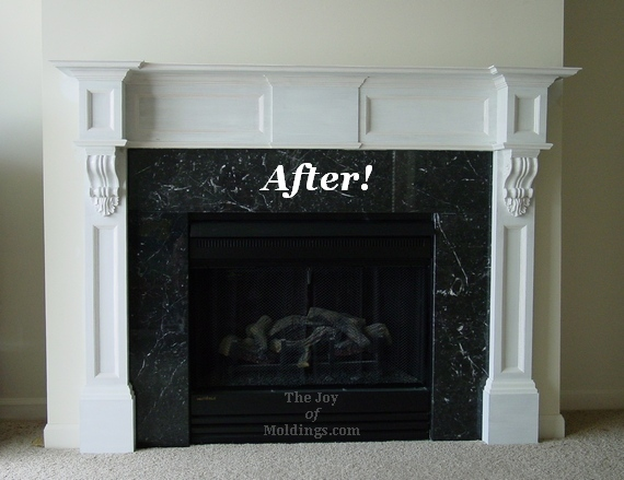 fireplace mantel corbels. after fireplace mantel with corbels installation Before  After Fireplace Mantel Corbels The Joy of Moldings com