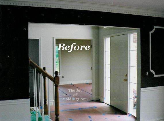 Foyer Interior Kit : Before after foyer and dining room with archway the