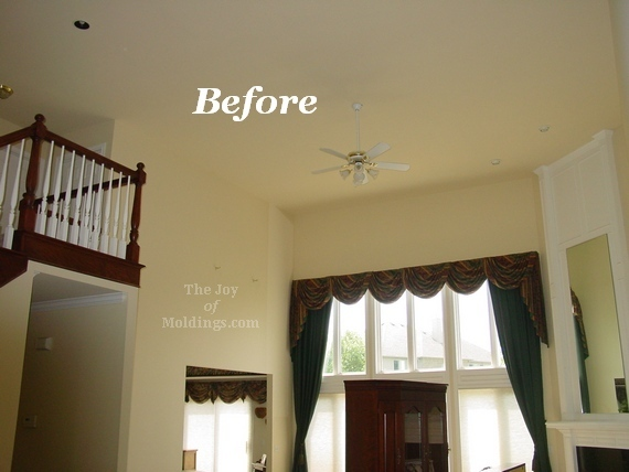 great room remodel before picture