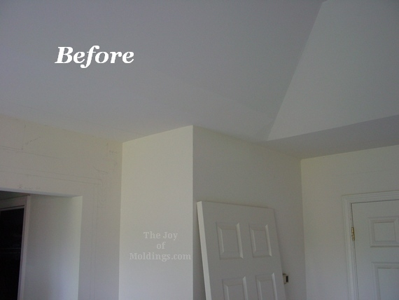 before  after master bedroom crown molding  door trim  the joy, Bedroom decor