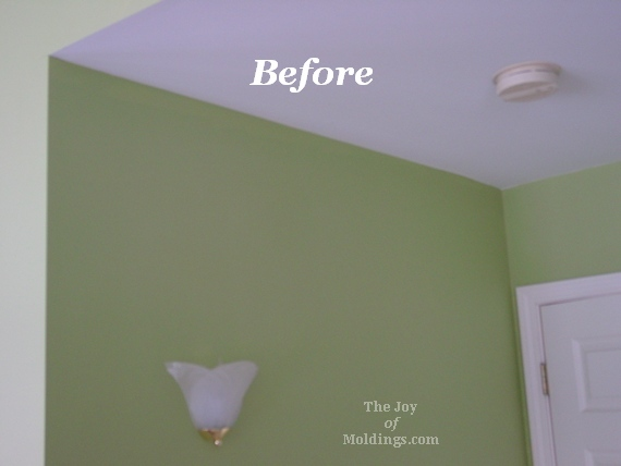 before  after ornate crown molding in master bedroom  the joy, Bedroom decor