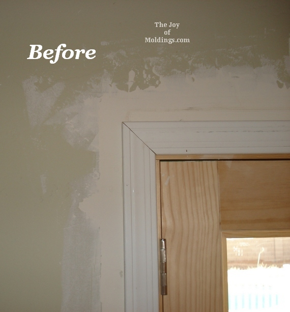 before and after door trim pictures & Before \u0026 After: Moldings for Patio Double Doors - The Joy of ... Pezcame.Com