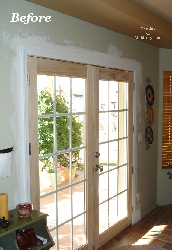 Before After Moldings For Patio Double Doors The Joy Of Moldings