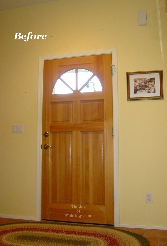 mdf painted door trim & Before u0026 After: Victorian Farmhouse Door Trim - The Joy of Moldings.com