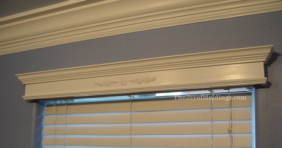 valance cornice box kitchen tutorial