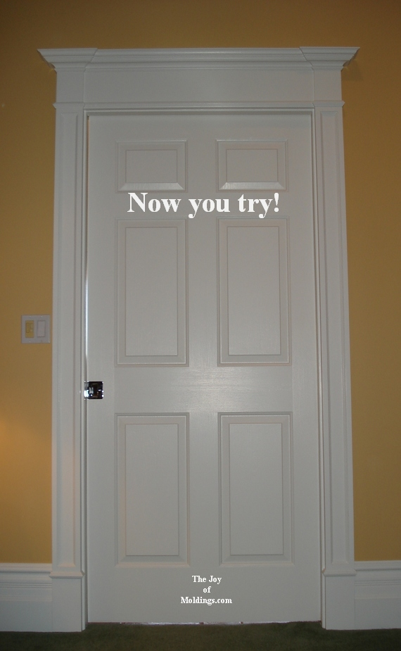 diy interior home painting tutorial : door moldings - Pezcame.Com