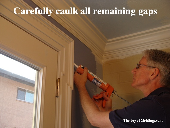 diy caulk moldings