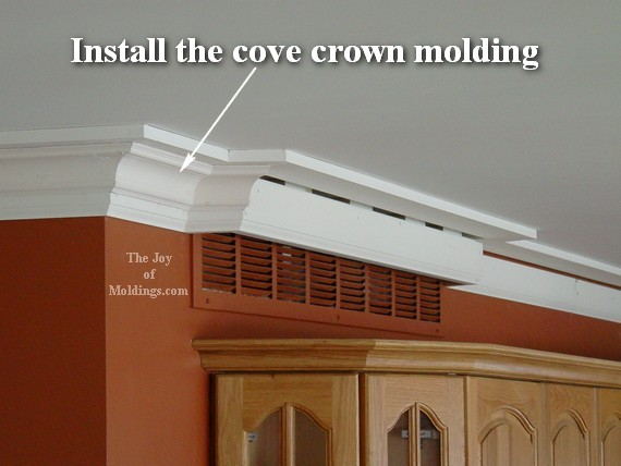 How To Install Crown Molding 106 For About 4 13 Ft The