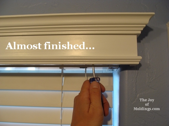 4 install window valance cornice box how to diy The Joy