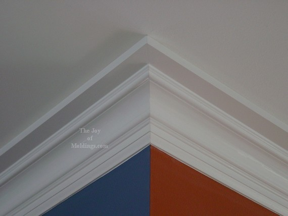 after picture of crown molding installation