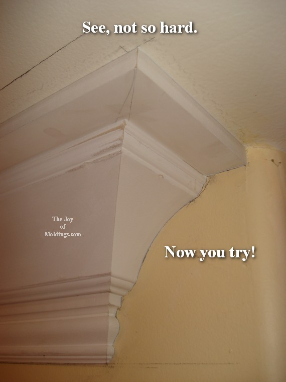 how to install easy cronw molding