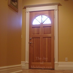 how to build a victorian style door surround & How to Build DOOR TRIM-114 for About $60.00 - The Joy of Moldings.com