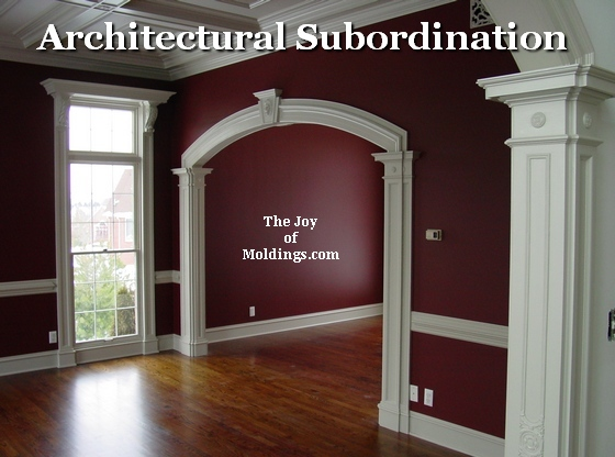 architectural subordination the joy of moldings