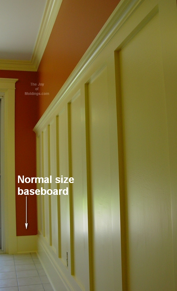 how to install diy baseboard and wainscoting & How to Transition Wainscoting Baseboard into Door Trim - The Joy of ...