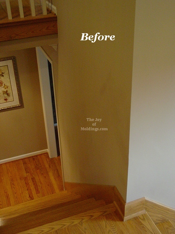 wainscoting on stairs oak pilaster