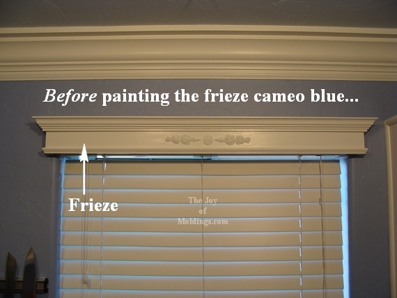 Before Amp After Valance Box Frieze Painted Medium And Dark