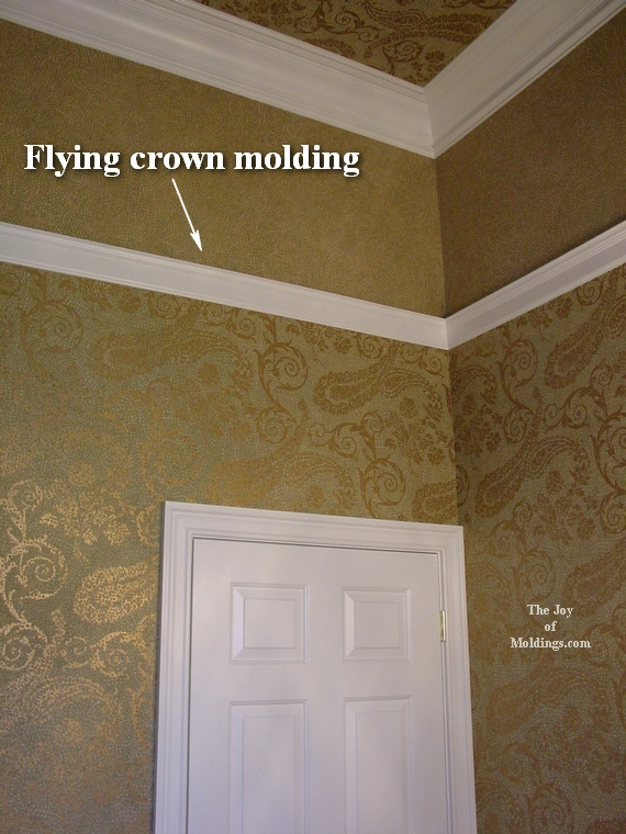 Crownmoldingguestbathroom The Joy Of Moldingscom - Bathroom crown molding