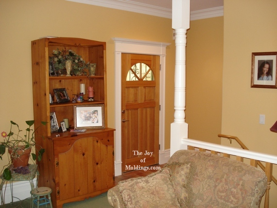 painted diy mdf door trim front door