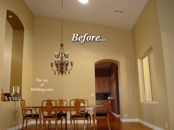 great room with dining room before and after
